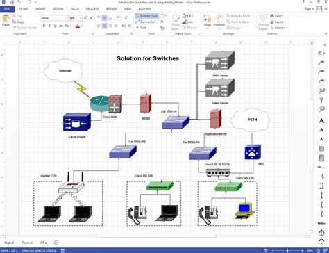 Visio For Network Cabling Diagram