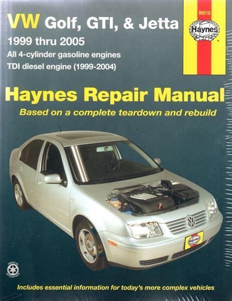 Volkswagen Golf 1999 2005 Workshop Service Manual Repair