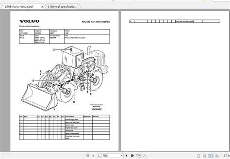 Volvo L90e Parts Manual