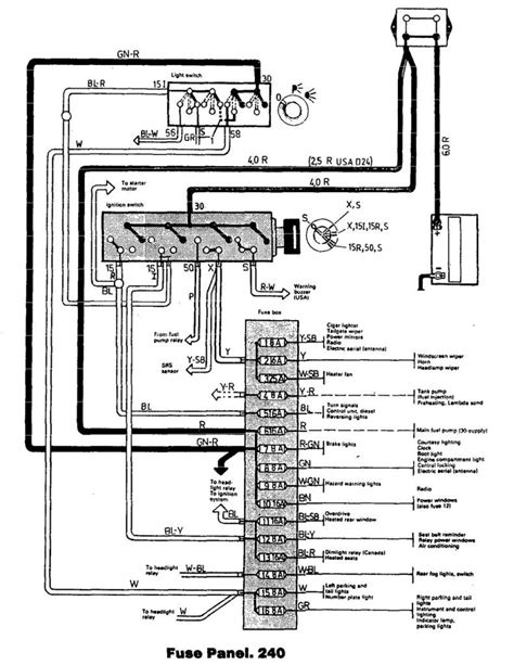 Volvo Wiring Diagrams 240