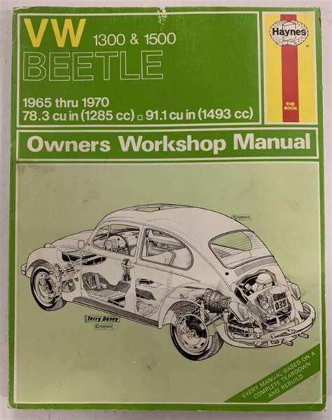 Vw Beetle 1968 Repair Manual