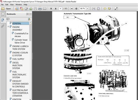 Vw Transporter Syncro Manual