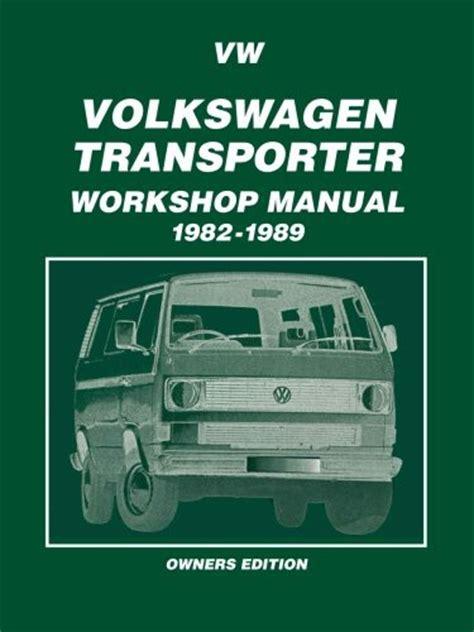 Vw Transporter Workshop Manual Workshop Manual Vw