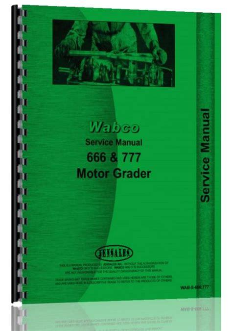 Wabco 666 Motor Grader Manual