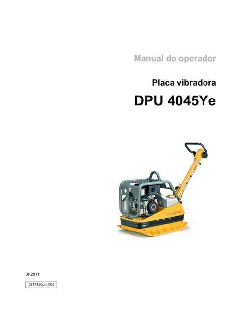 Wacker Dpu Manual
