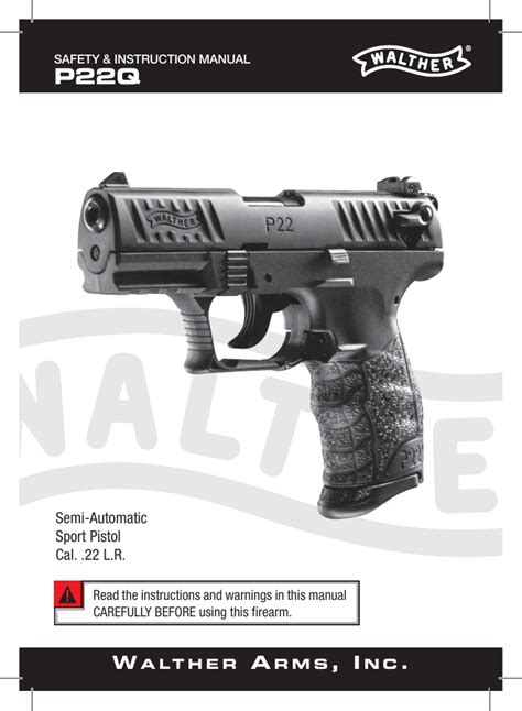 Walther P22 Owners Manual