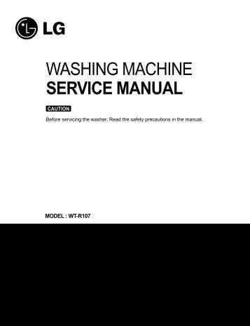 Washing Machine Service Manual Jordans Manuals