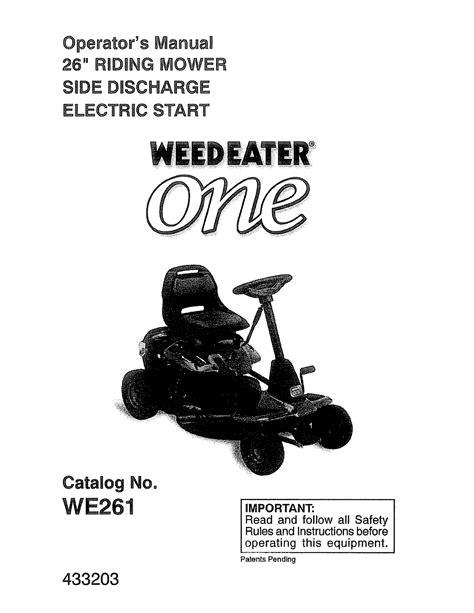 Weed Eater Lawn Mower User Manual