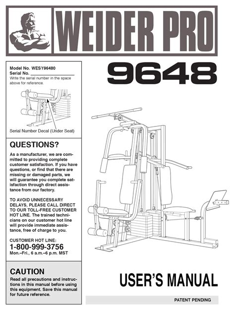 Weider Exercise Manual