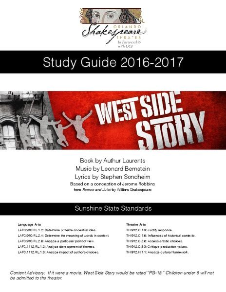 West Side Story Study Guide Questions