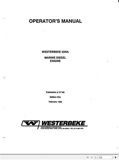 Westerbeke Marine Diesel Engine And Marine Diesel Generators Single And Three Phase Service Repair Manual