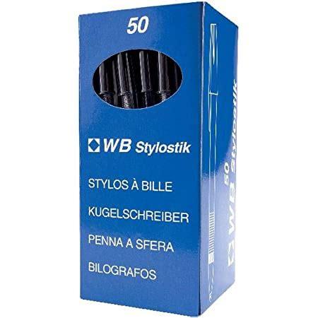 Whitebox Ball Point Pen Black Medium [Pack of 50]
