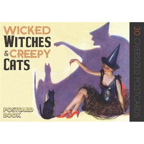 Wicked Witches Andamp Creepy Cats Postcard Book Halloween