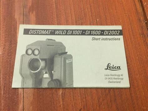 Wild Di2002 Manual