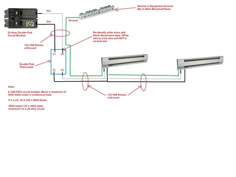 Wire Diagram For Multiple Baseboard Heaters