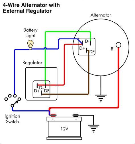 Wiring Diagram Alternator Warning Light