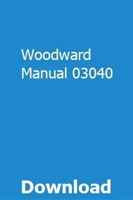 Woodward Manual 03040