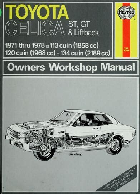 Workshop Manual Celica