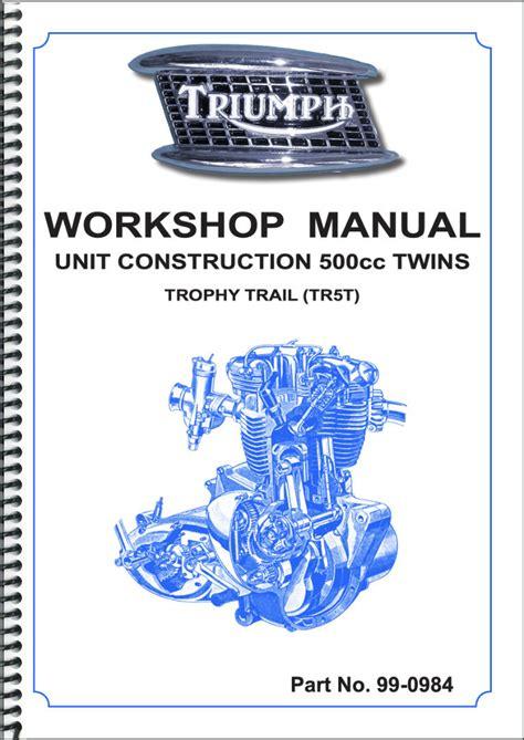 Workshop Manual Triumph Tr5t