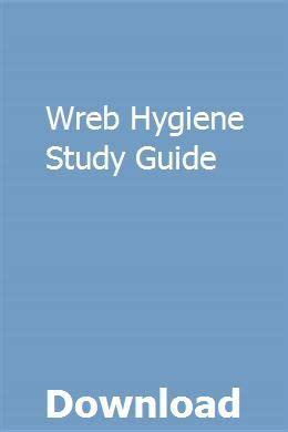 Wreb Hygiene Study Guide