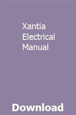 Xantia Electrical Manual