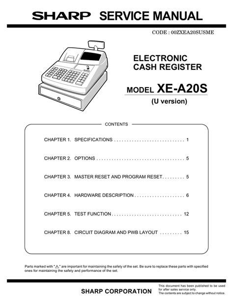 Xe A20s Manual