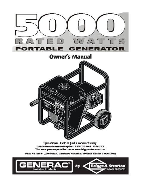 Xq60 Generator Operator Manual