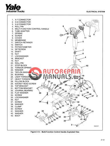 Yale Nr 045 Ac Electric Forklift Factory Service Workshop Manual