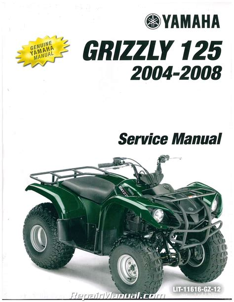 Yamaha 125 Grizzly Repair Manual