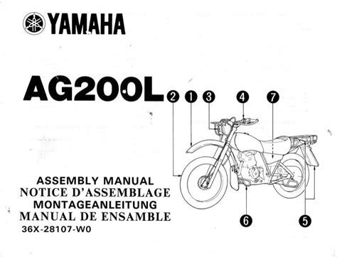 Yamaha Ag 200 Parts Manual