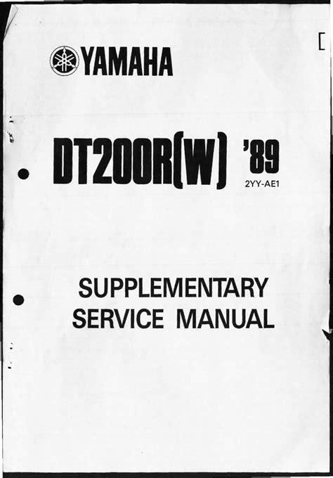 Yamaha Dt200r Service Manual