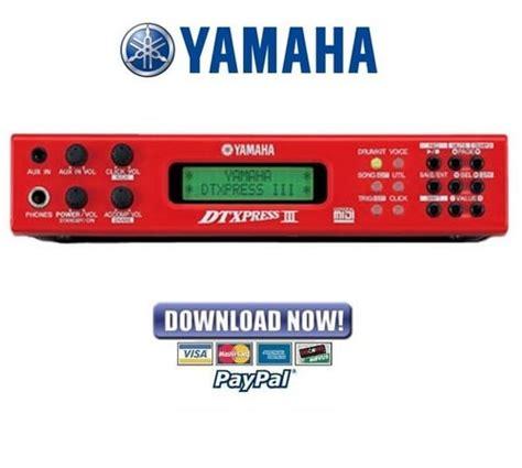 Yamaha Dtxpress Iii 3 Drum Trigger Module Service Manual Repair Guide