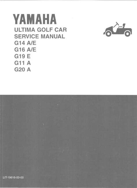 Yamaha G16 A Golf Cart Service Manual