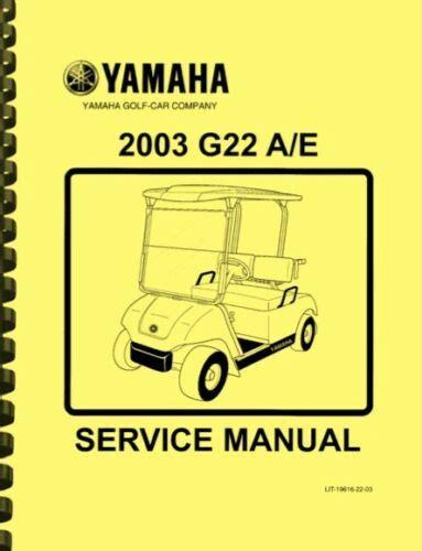 Yamaha G22a Repair Manual
