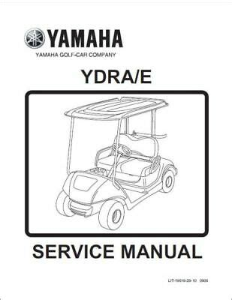 Yamaha Golf Cart Service Manual Ydra Ydre 2012 2013