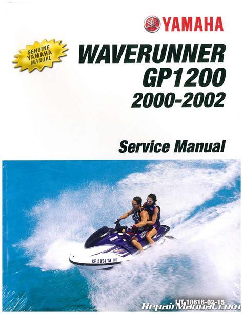 Yamaha Gp1200r Waverunner Repair Service Factory Manual