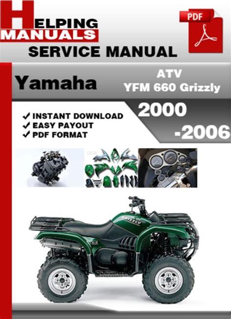 Yamaha Grizzly Yfm 660 2016 Repair Manual