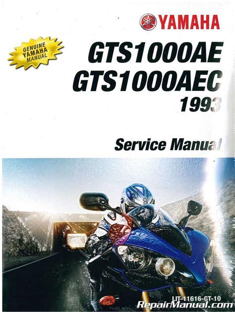 Yamaha Gts1000 Complete Workshop Repair Manual 1993 Onward