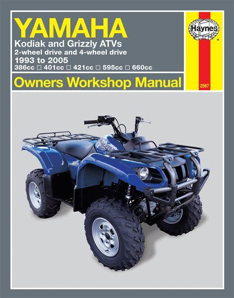 Yamaha Kodiak 450 2003 2004 05 2006 Workshop Manual
