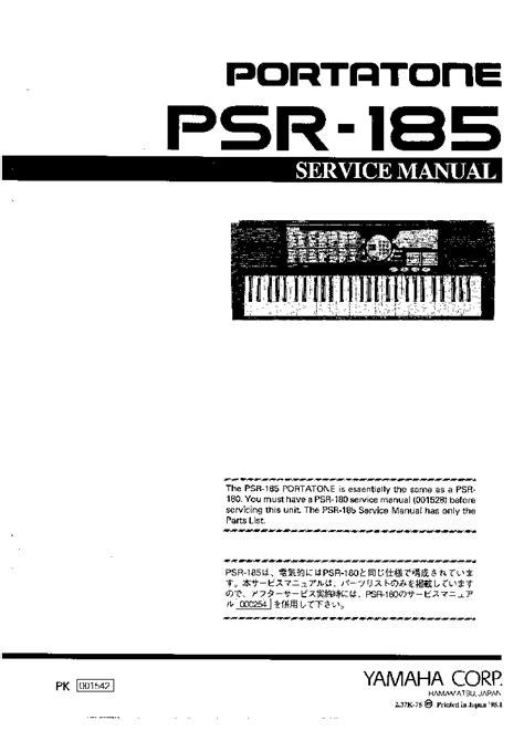 Yamaha Psr 185 Manual