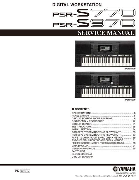 Yamaha Psr 2016 Manual