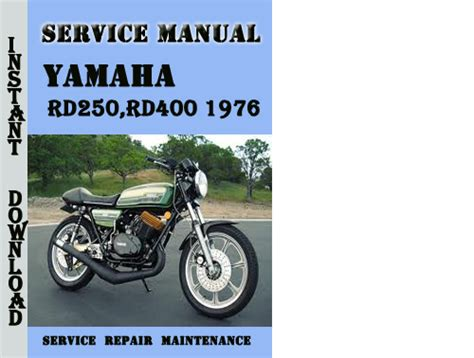 Yamaha Rd250 Rd400 1977 Repair Service Manual