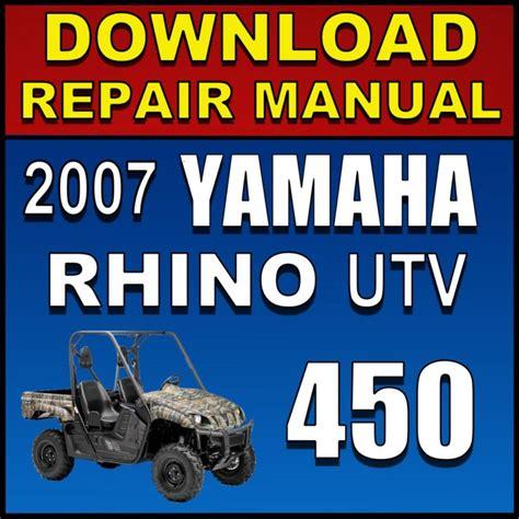 Yamaha Rhino 450 Repair Manual