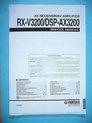 Yamaha Rx V363bl User Manual