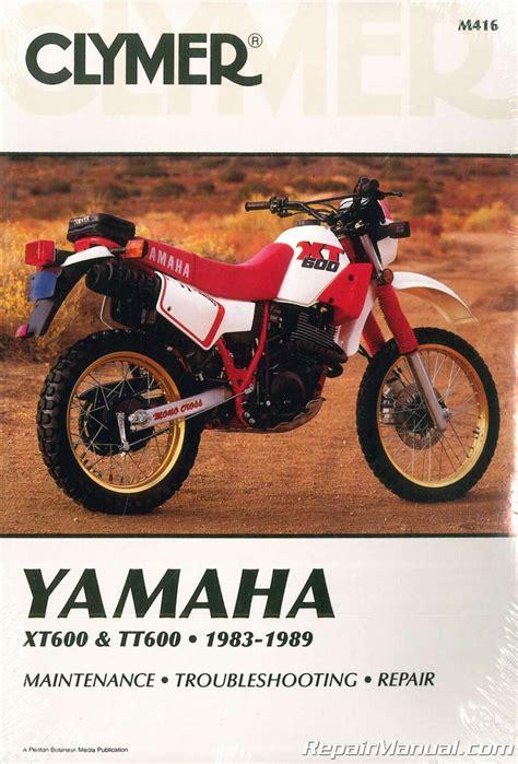 Yamaha Tt600 Service Manual