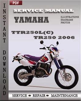 Yamaha Ttr250l Tr250 2006 Factory Service Repair Manual