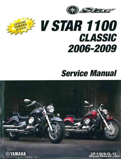 Yamaha V Star 1100 Classic Service Repair Workshop Manual 1999 2007