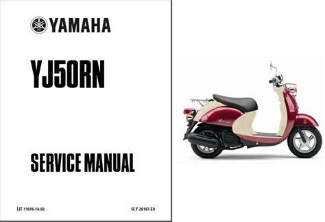 Yamaha Vino 50 2001 2002 2003 Workshop Service Manual