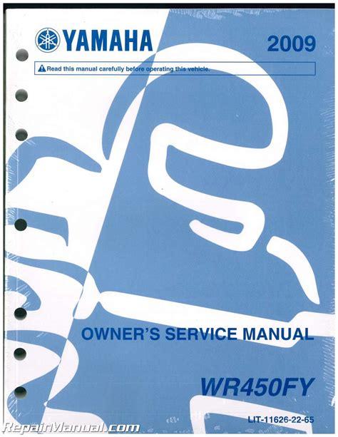 Yamaha Wr450f Service Repair Manual 2009