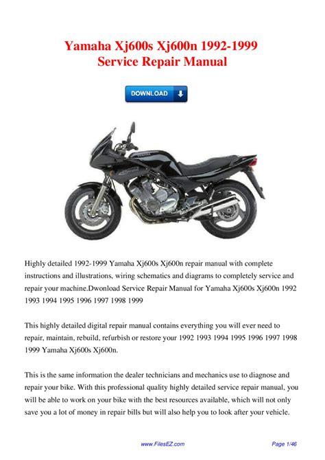 Yamaha Xj 600 Service Repair Manual